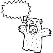 Roaring polar bear — Stock Vector