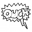 Stock Vector: Ouch shout