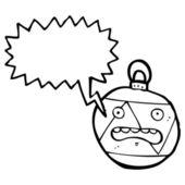 Crazy christmas bauble — Stock Vector