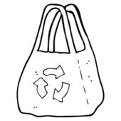 Recycled bag — Stock Vector