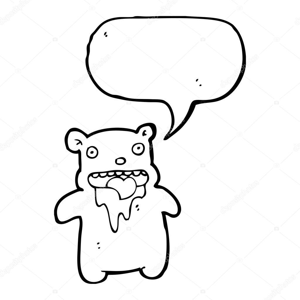 毛流口水的玩具熊