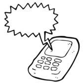 Teléfono móvil — Vector de stock