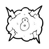 Number 2 cloud — Stock Vector