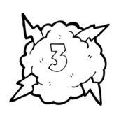 Number 3 cloud — Stock Vector