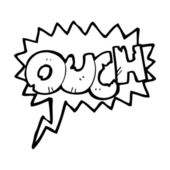 Ouch comic book shout — Stock Vector