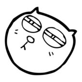 Funny cat face — Vector de stock