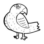 Cartoon parrot — Stock Vector