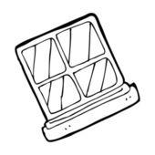 Square window — Stock Vector