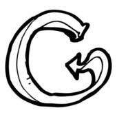 Cartoon alfabet g — Stockvector