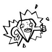 Cartoon diamond character — Stock Vector