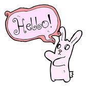 Spooky rabbit saying hello — Vetor de Stock