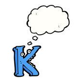 Pazzo lettera k — Vettoriale Stock