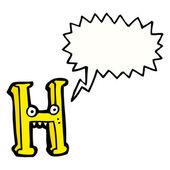 çılgın harf h — Stok Vektör