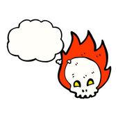 Spooky skull — Stock Vector