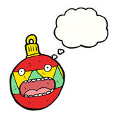Panicking christmas bauble — Stock Vector
