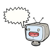 Shouting television — Stock Vector
