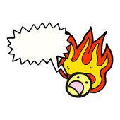 Flaming emoticon face — Stock Vector