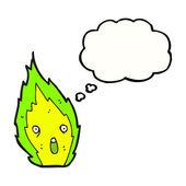 Зеленый огонь — Cтоковый вектор