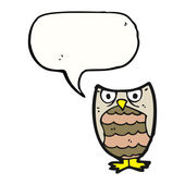 Owl with thought bubble — Stock Vector