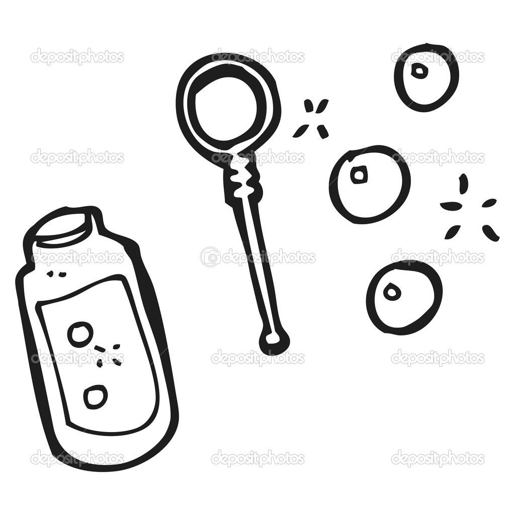 Draw A Plan Dibujos Animados De Soplar Burbujas Vector De Stock