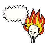 Gross melting skull — Stock Vector