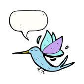 Flying hummingbird cartoon — Stock Vector