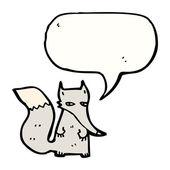 Talking Wolf — Stock Vector