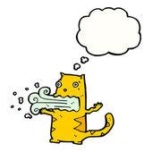 Bad breath cat cartoon — Stock Vector