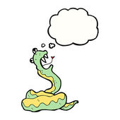 Hissing cobra cartoon — Stock Vector