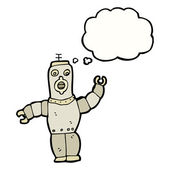 Robot with thought bubble — Stock Vector