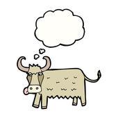 白い背景の上の牛します。 — ストックベクタ