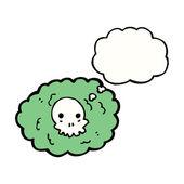 Spooky skull cloud — Stock Vector
