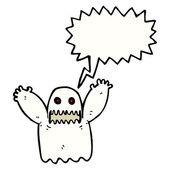 Terrifying ghost — Stock Vector