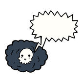 Death cloud — Stock Vector