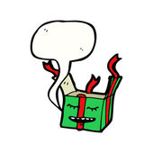 Green christmas present — Stock Vector