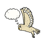 Flying owl — Stock Vector