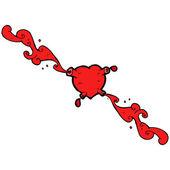 Gross squirting heart — Stock Vector