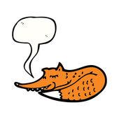 Sleeping fox — Stock Vector
