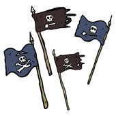 Drapeaux de pirate — Vecteur