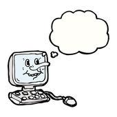 Hässliche alte computer — Stockvektor