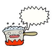 Hot kitchen pan — Stock Vector