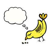Pecking bird — Stock Vector