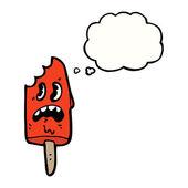 Red retro ice lolly — Stock Vector