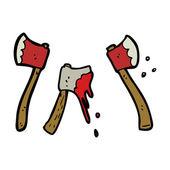 Hache sanglante — Vecteur