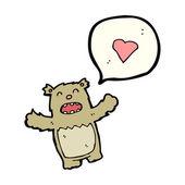 Teddybär mit sprechblase — Stockvektor