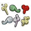 Vector de stock : Swirls collection