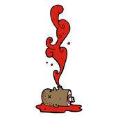 Gross severed head — Stock Vector
