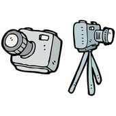 Camera set — Stock Vector