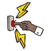 Mão pressionando o símbolo de botão — Vetor de Stock