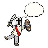 Caballero medieval — Vector de stock